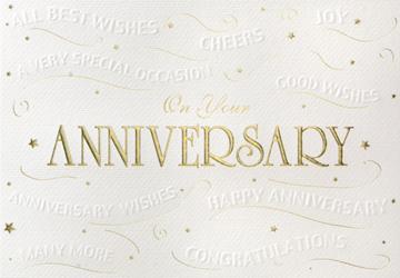 Embossed Anniversary Wishes