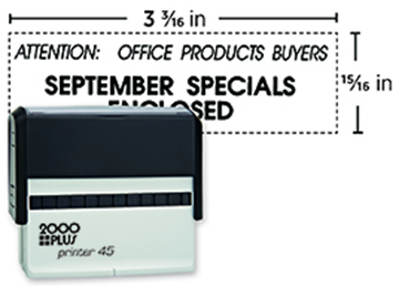 2000 Plus® Self-Inking Printer 45 Stamp
