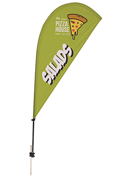 6.5' Teardrop Sail Sign Kit - 1 Sided with Ground Spike