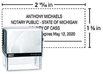 2000 Plus® Self-Inking  Printer 60 Notary Stamp