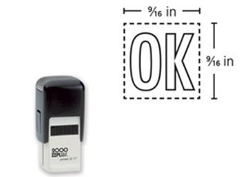 2000 Plus® Self-Inking Printer Q17  Square Stamp