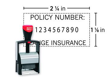 2000 Plus® 2010/P Heavy Duty Metal Numberer