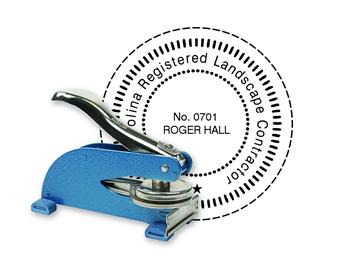 "Custom Official KO Desk Notary Seal 2"""