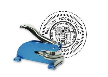 "Custom Official KO Desk Notary Seal 1 5/8"""