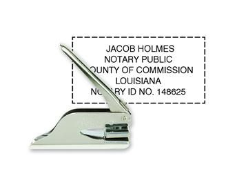 "Custom Official K Pocket Notary Seal 1"" x 2"""