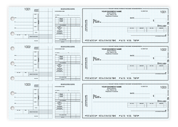 """Custom Secure Manual Checks, Business Checks, 13"""" x 9-3/16"""", 3-to-a-Page, 1-Part"""
