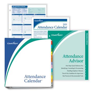 "ComplyRight™ 2021 Attendance Calendar Kit, 8 1/2"" x 11"", White"