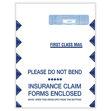 """ComplyRight™ CMS-1500 Jumbo Right Window Envelope, Healthcare Forms and Envelopes, 9""""X 12½"""", Box of 500"""