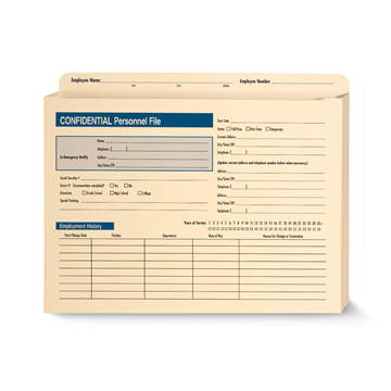 ComplyRight™ Expanded Confidential Personnel File Folder, Recordkeeping Folders, Pack of 25