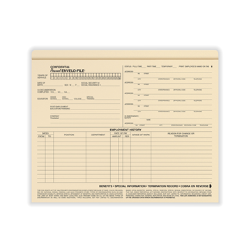Confidential Personnel Envelo-File®, Recordkeeping Folders, Pack of 25