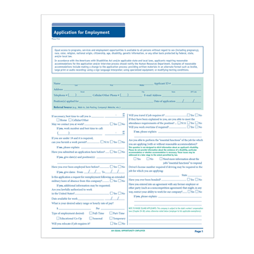 ComplyRight™ 50-State Job Application (Long Form), Job Applications, Pack of 50