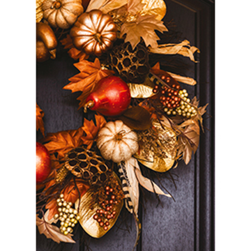 Autumn Wreath - Printed Envelope