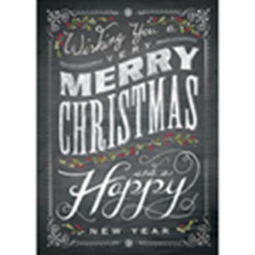 Chalkboard Merry Christmas - Printed Envelope