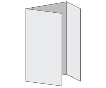 Custom Tri-Fold Menu, Durable and Disposable Restaurant Menus, 12 x 18, Multiple Stock Options