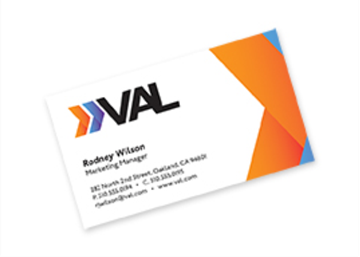Full Color Flat Standard Business Card - Front only
