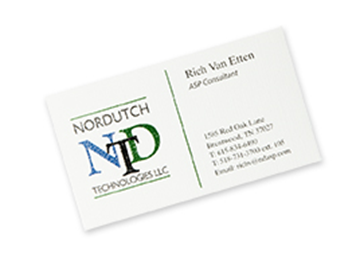 Full Color Raised Business Card - Front only
