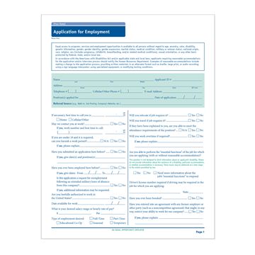 ComplyRight™ Connecticut Job Application, Job Applications, Pack of 50