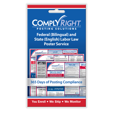 ComplyRight™ Federal (Bilingual) & State (English) Labor Law Poster Service card, Labor Law - Employee Postings