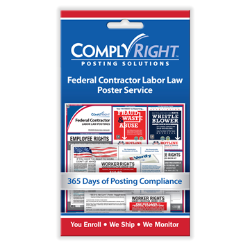 ComplyRight™ Federal Contractor Labor Law Poster Service card, Labor Law - Employee Postings