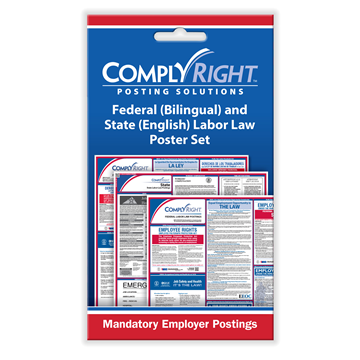 ComplyRight™ Federal (Bilingual) & State (English) Labor Law Poster Set card, Labor Law - Employee Postings