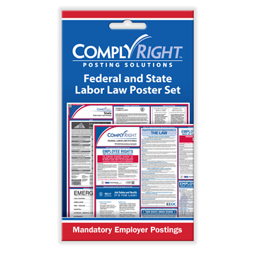 ComplyRight™ Federal (English) & State (English) Labor Law Poster Set card, Labor Law - Employee Postings
