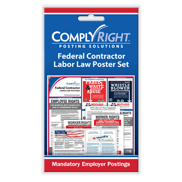 ComplyRight™ Federal Contractor Labor Law Poster Set card, Labor Law - Employee Postings