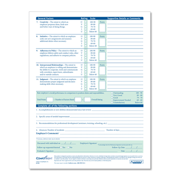 ComplyRight™ Performance Appraisal Form, Recordkeeping Forms, Pack of 50
