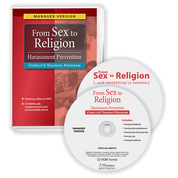 """ComplyRight™ """"From Sex to Religion"""" Training Program, Compliance and Training Tools, Manager Version"""