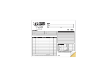 """Custom Create Your Own Business Form, Carbonless Business Forms, 8-1/2"""" x 7"""", 2-Part with Easy Pull-Apart Pages from the Top"""