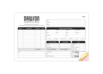 """Custom Create Your Own Form, Carbonless Business Forms, 8-1/2"""" x 11"""", 2-Part with Easy Pull-Apart Pages from the Top"""