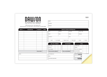 """Custom Create Your Own Form, Carbonless Business Forms, 8-1/2"""" x 11"""", 3-Part with Easy Pull-Apart Pages from the Top"""