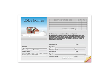 """Custom Full Color Business Form - Front, Carbonless Business Forms, 5-1/2"""" x 8-1/2"""", Vertical, 3-Part with Easy Tear-Out Page"""