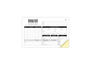 """Custom Create Your Own Business Form, Carbonless Business Forms 8-1/2"""" x 5-1/2"""", 2-Part with Easy Pull-Apart Pages from the T"""