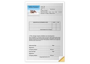 """Custom Full Color Business Form - Front, Carbonless Business Forms, 5-1/2"""" x 8-1/2"""", Vertical, 2-Part with Easy Tear-Out Page"""