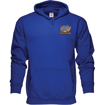 Embroidered 50/50 Pullover Hoodie Sweatshirt