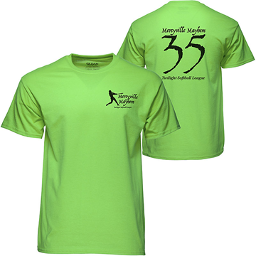 GILDAN® Screen Printed 50/50 Colored T-shirt
