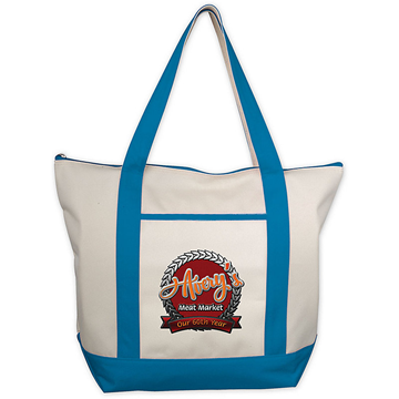 CLASSIC ZIPPERED TOTE - EMBROIDERED