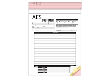 Custom Create Your Own Form as a Booklet, Carbonless Business Forms, 8.5 x 11, 3-Part Easy Tear-Out Pages, 50 sets