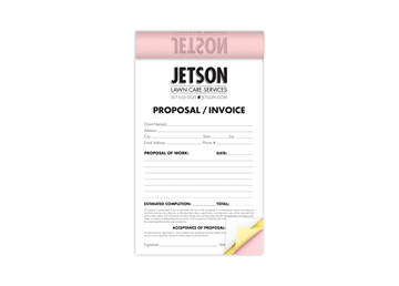 """Custom Create Your Own Business Form as a Booklet, Carbonless Business Forms, Horizontal, 8-1/2"""" x 5-1/2"""", 3-Part with Easy T"""