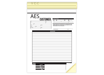 """Custom Create Your Own Business Form as a Booklet, Carbonless Business Forms, Vertical, 8-1/2"""" x 11"""", 2-Part with Easy Tear-O"""
