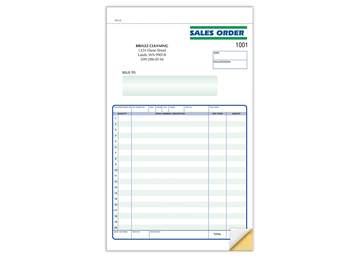"""Custom Business Order Form, Carbonless Business Forms, Ruled, 5-1/2"""" x 8-1/2"""", 2-Part with Easy Tear-Out Pages"""