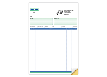 "Custom Invoice Forms, Carbonless Business Forms, Ruled, 8-1/2"" x 11"", 2-Part with Easy Tear-Out Pages"