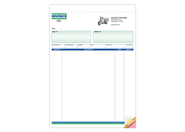 "Custom Invoice Forms, Carbonless Business Forms, Ruled, 8-1/2"" x 11"", 3-Part with Easy Tear-Out Pages"