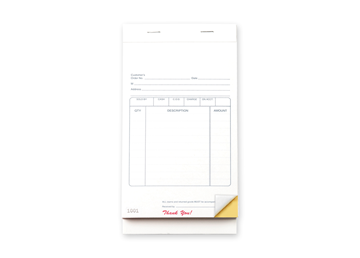 """Custom Multi-Purpose Sales Booklet, Carbonless Business Forms, 3-3/8"""" x 5-1/8"""", 2-Part with Easy Tear-Out Pages, 50 Sets Per"""