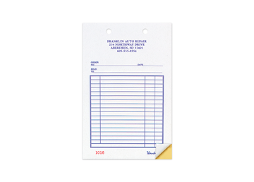 """Custom Business Forms, Carbonless Business Forms, 5-3/8"""" x 8-1/2"""", 3-Part with Easy Tear-Out Pages"""