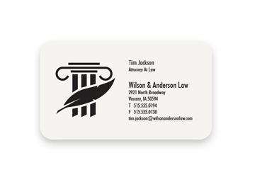 1 Color Premium Business Cards - Flat Print, Round Corners, 1-Sided