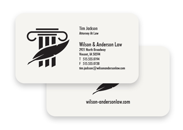 1 Color Premium Business Cards - Flat Print, Round Corners, 2-Sided