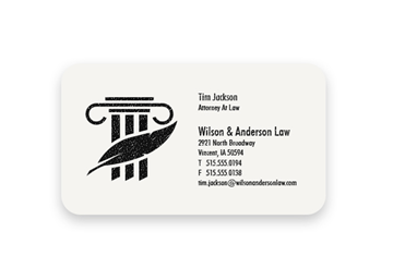 1 Color Premium Business Cards - Raised Print, Round Corners, 1-Sided