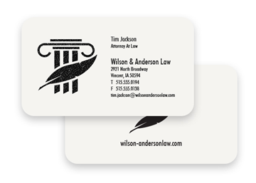 1 Color Premium Business Cards - Raised Print, Round Corners, 2-Sided