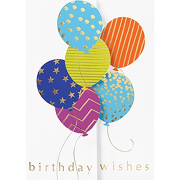 Balloon Birthday Wishes - Printed Envelope
